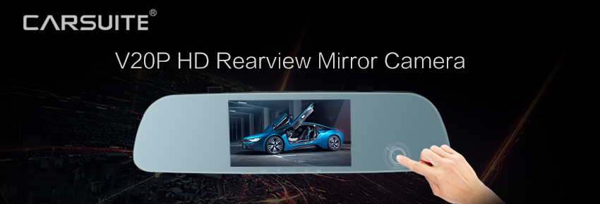 "5"" Touch Screen Rear view mirror camera"